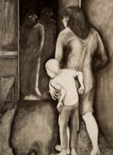 Callers-   Charcoal & conte'crayon  150 x120cm